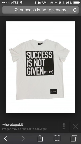 shirt success is not givenchy t-shirt givenchy tshirt