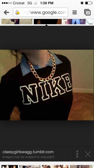 jewels sweater nike, black, sweater, sweatshirt
