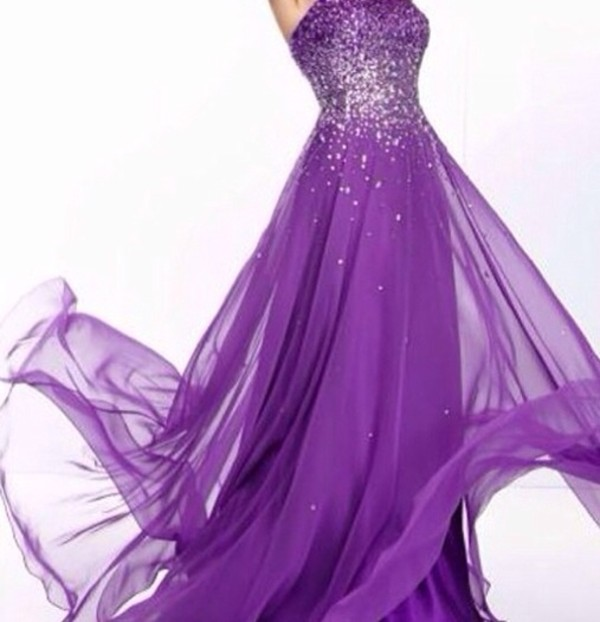 Purple Long Formal Dresses