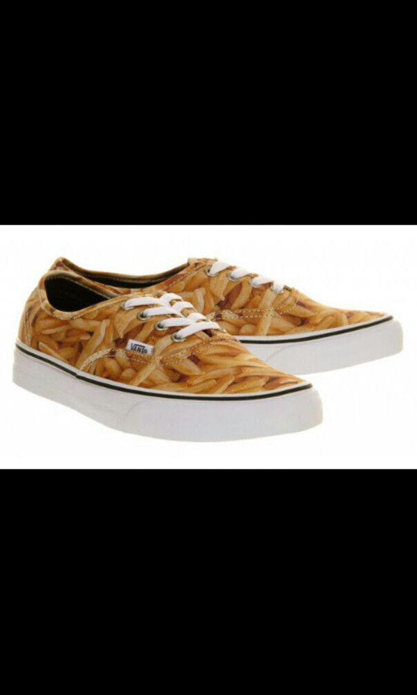 shoes pommes fries fries fast food schuhe vans sneakers camouflage camouflage