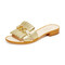 Kate spade new york brie slides - gold