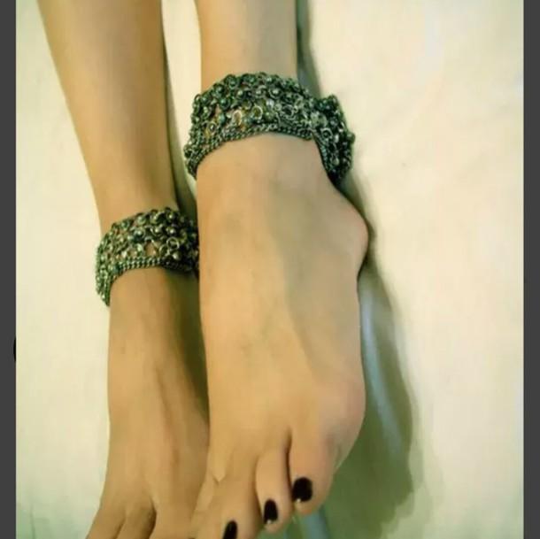 jewels silver anklets anklet ankle strap