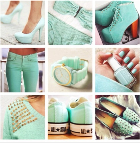 mint shoes mint pants