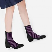 shoes,purple,purple shoes,boots,fall accessories,fall outfits,texture,glitter,stripes,black shoes,black boots