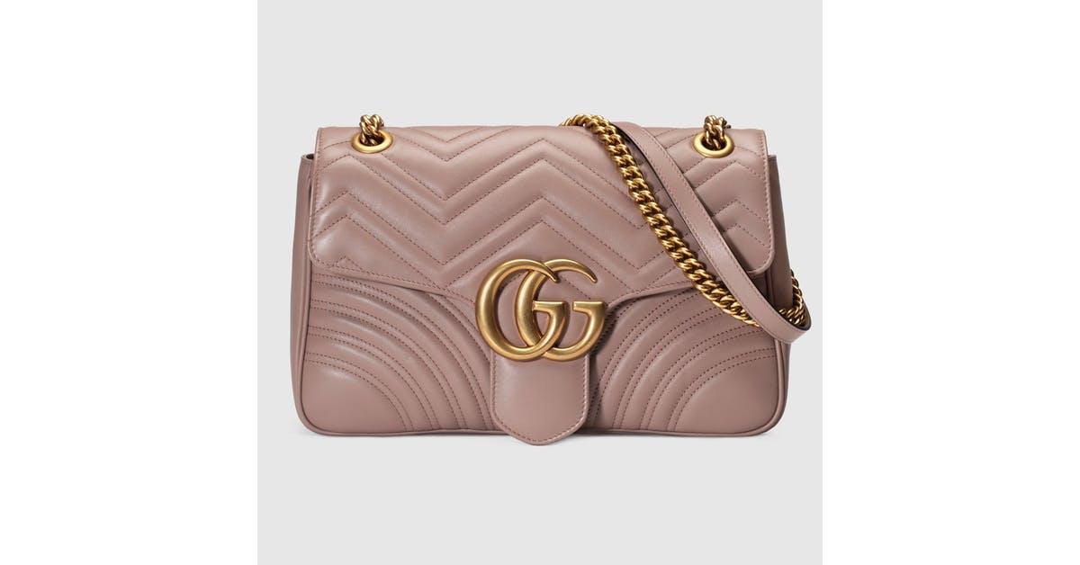 c1cdcaca51df GG Marmont matelassé shoulder bag - nude matelassé leather by Gucci