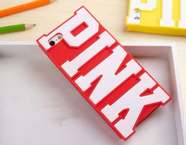 Pink letter silicone case for iphone 5/5s/5c