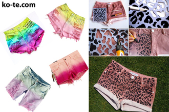 shorts cheetah rainbow colourful