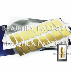 Amazon.com: Adhesive Nail Foil Sheet (Gold Chrome): Beauty