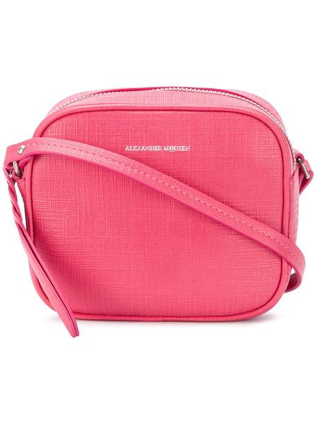 Alexander Mcqueen mini women bag crossbody bag leather purple pink