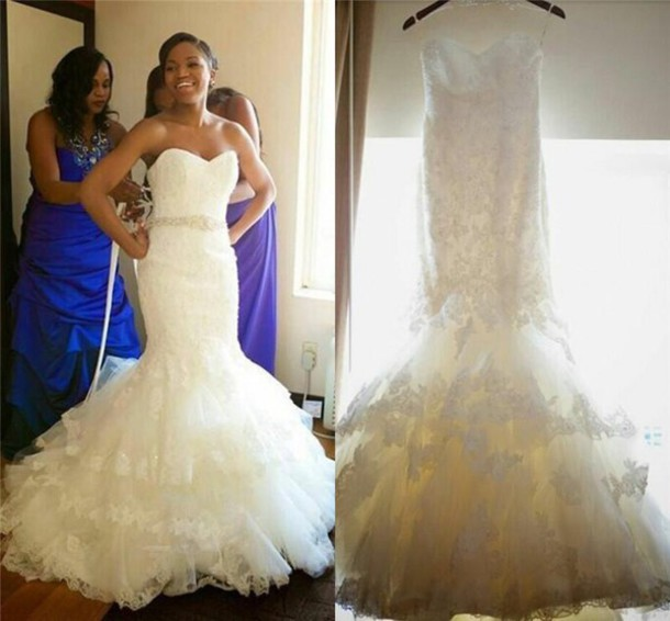 Dress princess wedding dresses mermaid wedding dress for Vintage mermaid wedding dress