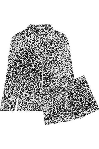 print black silk underwear