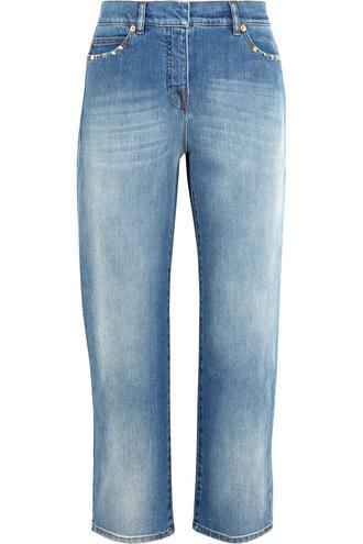 jeans boyfriend jeans studded cropped boyfriend denim