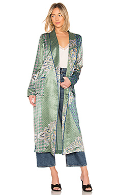 House of Harlow 1960 x REVOLVE Edwin Robe in Moss Green Patchwork from Revolve.com