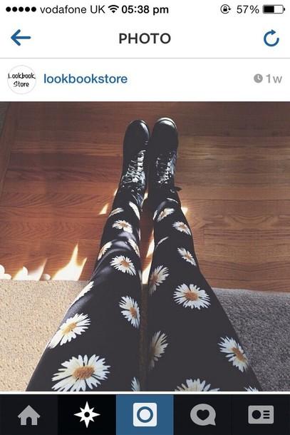 leggings daisy black leggings