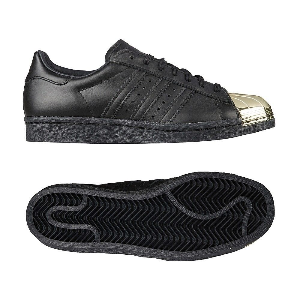 Adidas Superstar Black And Metallic