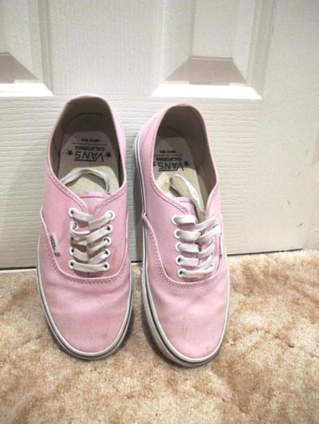 shoes vans light pink