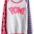 ROMWE | ROMWE Color Block POW! Appliqued Rose Sweatshirt, The Latest Street Fashion