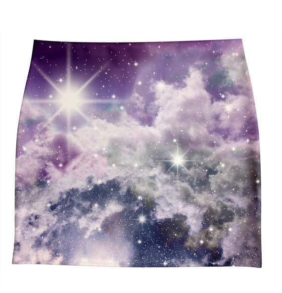Xs3xl skirts galaxy print by hellominky van hellominky op etsy