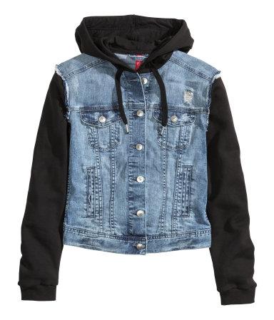 41362c336376 H M Hooded Denim Jacket  25