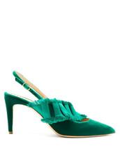 embellished,pumps,velvet,green,satin,shoes