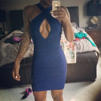 dress trendyish bodycon cut-out sexy party halter neck sleeveless low back designer instagram