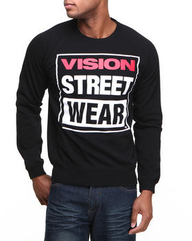 Buy Mens Logo Fleece Crewneck Sweatshirt Men's Sweatshirts & Sweaters from Vision Street Wear. Find Vision Street Wear fashions & more at DrJays.com