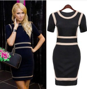 S M L XL XXL 2014 New Women Black OL Office Lady Elegant Pencil Dress Sexy Celeb Bodycon Bandage Dress Summer Casual Dress A409 | Amazing Shoes UK