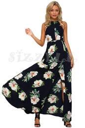 dress,bho,boho,boho chic,boho floral dress,floral,floral dress,black dress,black floral dress,halter dress,open back,maxi dress,thigh high slit,sexy high slit dress