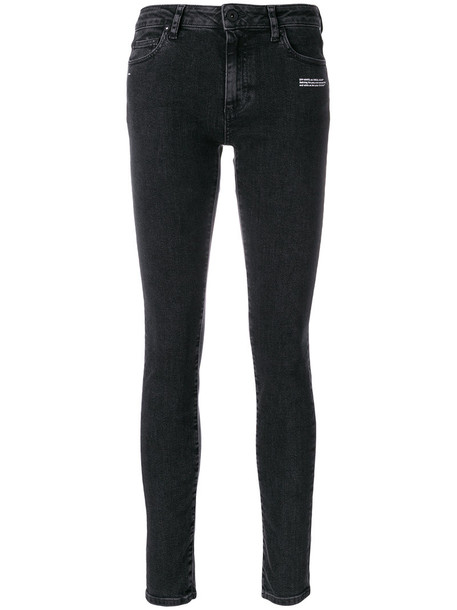 Off-White jeans vintage jeans vintage women spandex cotton black