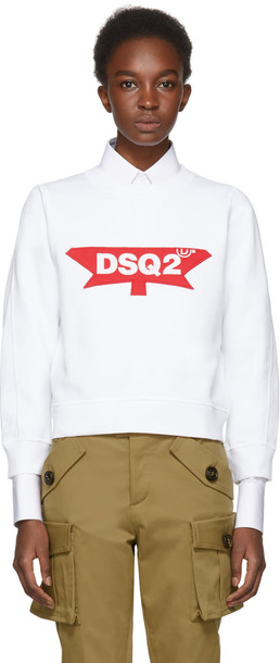 Dsquared2 sweatshirt white sweater