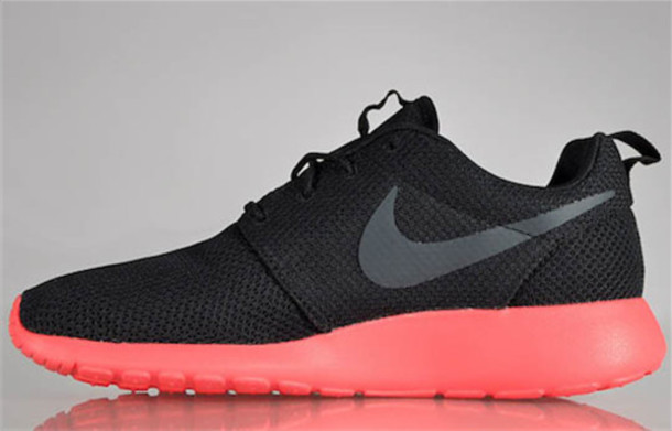 shoes black women antracit red nike nike roshe run girl nike roshe run