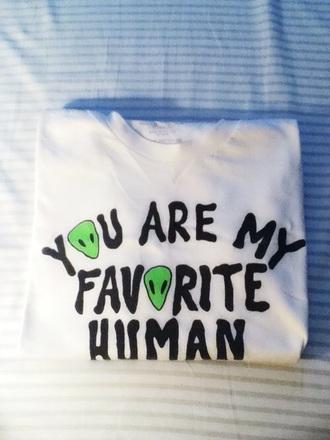 t-shirt alien lovely cute top