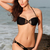 Sexy Halter Neck Solid Black Bikini Set on Luulla