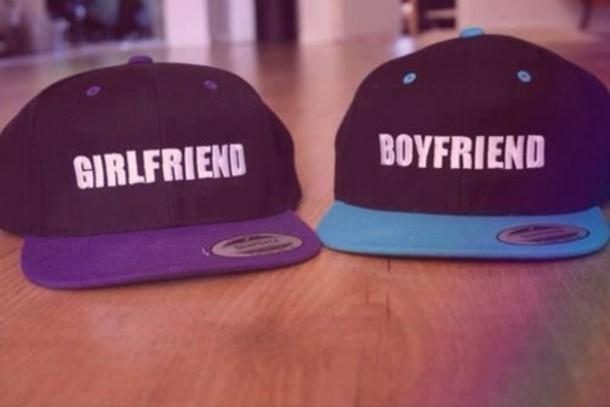 hat boy girl boyfriend girlfriend cute