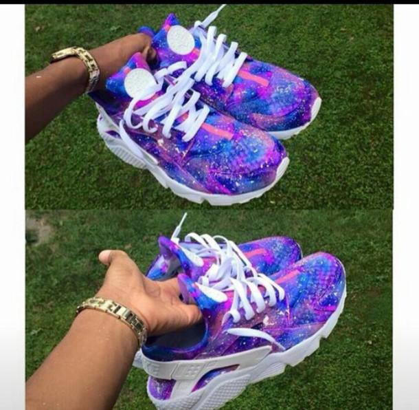 adb151d51e4f shoes blue pink purple huarache huarache