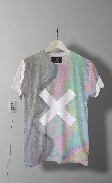 shirt grunge style fashion grunge wishlist the weeknd t-shirt thexx t-shirt tumblr hipster tumbr tumblr outfit cute cats the xx indie brandy new band band merch band t-shirt artist retro rainbow xx holographic holographic top acid trip band grunge t-shirt white shirt