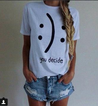 t-shirt sad rad cool tumblr grunge white black dress love alone cute