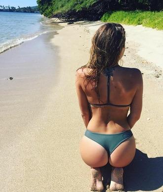 swimwear mikoh swimwear sexy bikini khaki racerback