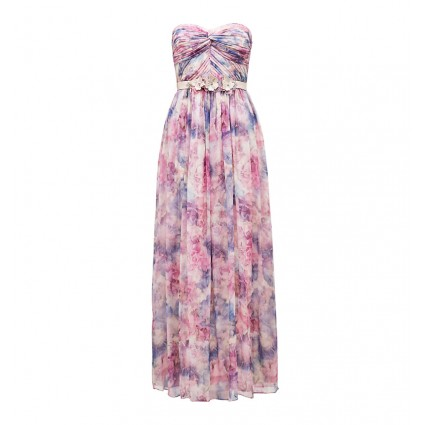 Taleah printed strapless maxi dress