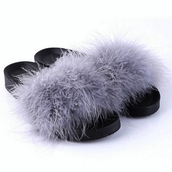 shoes,furry flats,slip on shoes,slippers,home flats,black fur sandals,summer outfits,beach,casual,tumblr,tumblr flats,tumblr shoes,sexy shoes,hairy,hairy slippers,flats,preppy,summer,moraki,nike casual shoes