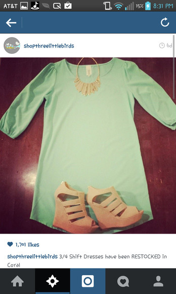 dress mint green dress jewels shoes