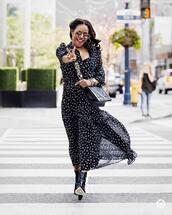 dress,maxi dress,long sleeve dress,floral dress,sheer,black boots,heart sunglasses,cuff bracelet,crossbody bag