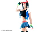t-shirt,halloween costume,costume,pokemon,skirt,blue skirt,gloves