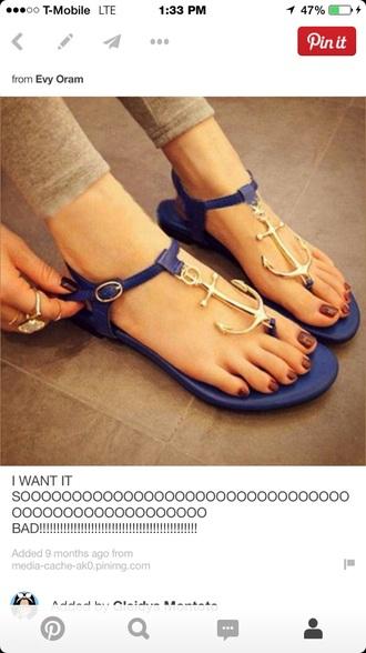 anchor sandals sandals