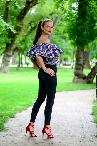 my silk fairytale blogger top jeans shoes bag