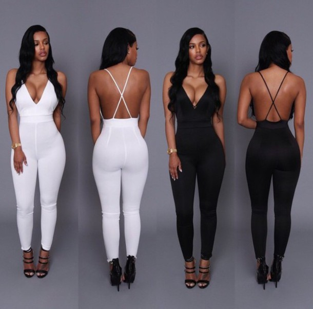 Jumpsuit White Backless White Jumpsuit Backless Jumpsuit Style