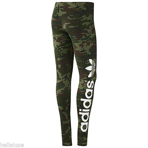 Adidas B Ball Trefoil Leggings Camo Tights Yoga Running Pant Workout Womens Sz M | eBay