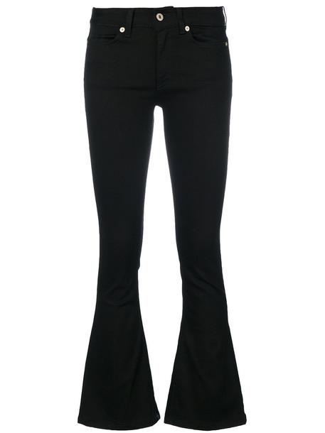 DONDUP women spandex fit cotton black pants