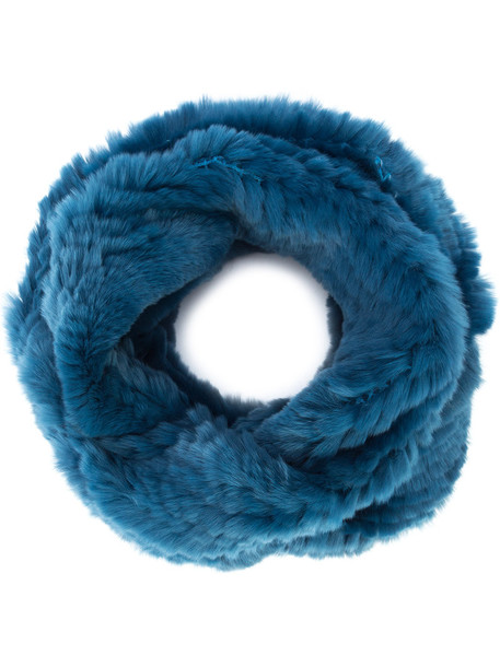 fur women infinity scarf infinity scarf cotton blue