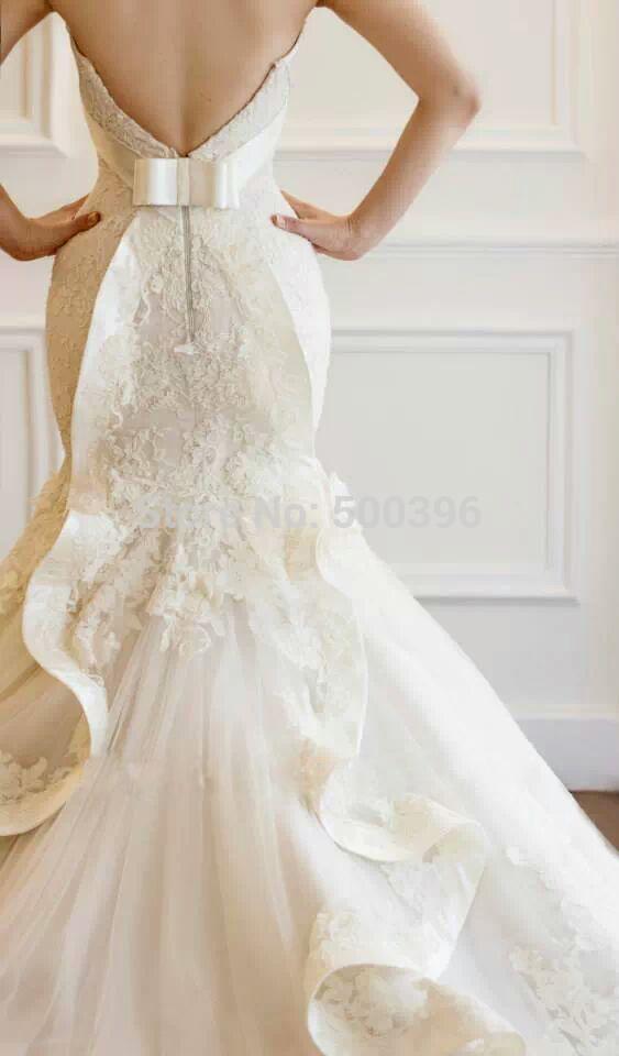 Wedding Dresses  Aliexpress : Aliexpress buy hot lace mermaid wedding dress vestidos de